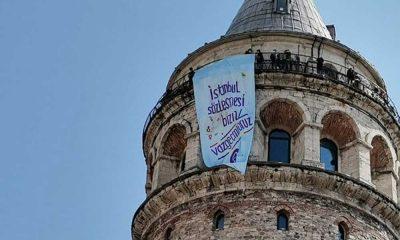 Kadınlar İstanbul'u pankartlarla donattı: İstanbul Sözleşmesi bizim