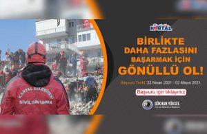 Kartal Belediyesi afet gönüllülerini oluşturuyor