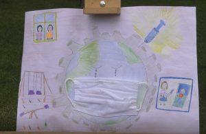 Çocuklar pandemi dönemini resmetti
