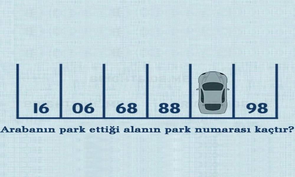 Arabanın park ettiği alanın park numarası kaçtır?
