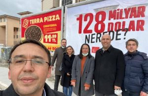 """CHP'nin """"128 milyar dolar nerede?"""" afişlerine bu sefer de Kastamonu'da engelleme"""