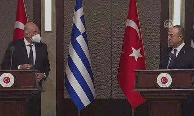 Çavuşoğlu ve Dendias basın toplantısında gerildi: İthamlar kabul edilemez
