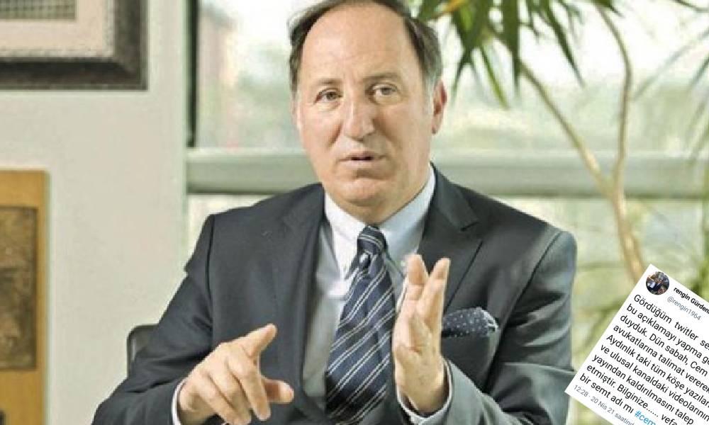 Cem Gürdeniz'den 'Aydınlık ve Ulusal Kanal' kararı