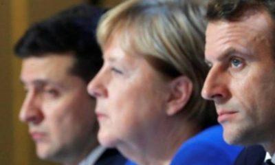 Macron, Merkel ve Zelenskiy yarın görüşecek! Konu Rusya…