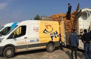 """""""PTT çalışanları patates soğan çuvallarını taşımaya zorlanıyor"""""""