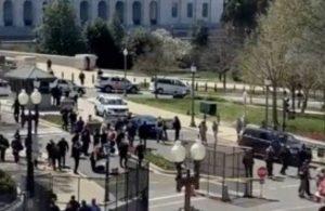 ABD'de Kongre binası önündeki barikata bir araç çarptı: 2 polis yaralandı, sürücü öldü