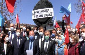 İYİ Parti'den Çin Büyükelçiliği'ne siyah çelenk