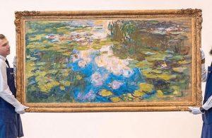 Monet'nin 'Nilüferler' serisinden bir tablo 40 milyon dolara satışa sunulacak