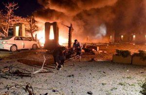Otel otoparkında patlama: Çok sayıda ölü ve yaralı var