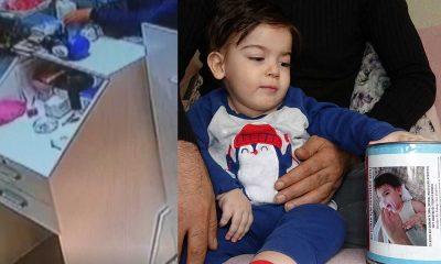 SMA hastası minik Ali Osman'ın yardım kumbarası çalındı