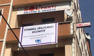 'İstanbul Sözleşmesi' pankartı krizi: SOL Partililer darp edilerek gözaltına alındı