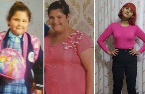 Fazla kiloları yüzünden okulu bırakmıştı… 60 kilo verdi