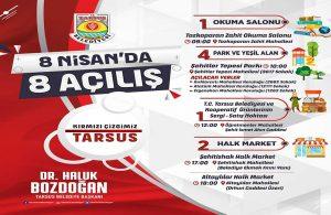 Tarsus Belediyesi'nden 8 Nisan'da 8 açılış