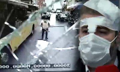 İETT şoförüne bıçaklı, mermerli saldırı: Kanlar içinde kaldı