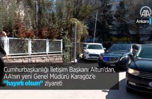 Fahrettin Altun'un AA'nın yeni müdürüne Mercedes'li  ziyaretini AA sildi