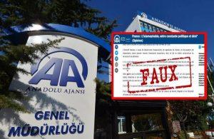 Fransa İçişleri'ne bağlı kurum AA'yı hedef aldı, Altun'dan tepki geldi