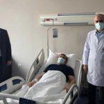 AKP'li vekil, koronavirüs tedavisi gören müftüyü ziyaret etti