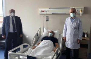 AKP'li vekil, koronavirüs atlatan müftüyü ziyaret etti