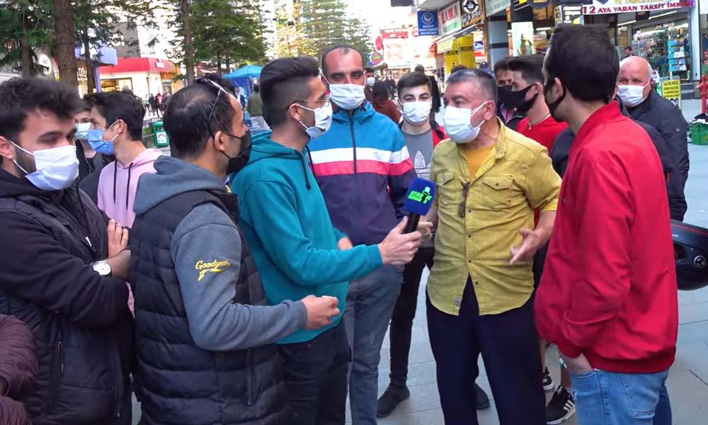 Gurbetçi AKP'li 'Erdoğan gittikten sonra namusumuz kalmayacak' dedi, çevredekiler yuhaladı