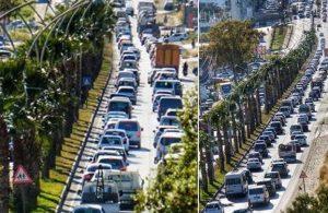 Tam kapanmayı duyan Bodrum'a koşuyor: Trafik kilit