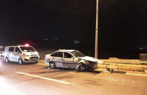 Adıyaman'da, takla atan otomobildeki 4 kişi yaralandı