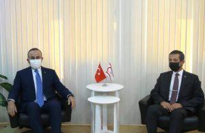 Çavuşoğlu, KKTC Dışişleri Bakanı Ertuğruloğlu ile görüştü