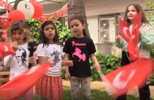 Çocuklar 23 Nisan Ulusal Egemenlik ve Çocuk Bayramı'nı böyle kutladı
