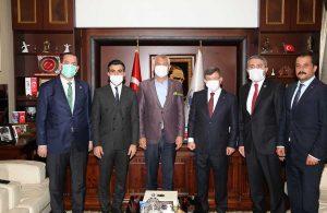 Ahmet Davutoğlu'ndan Başkan Zeydan Karalar'a nezaket ziyaret