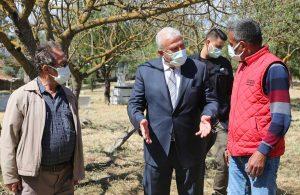 Efeler'deki mezarlık içi yolları yenileniyor
