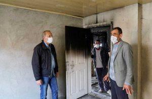 Evi yanan Güngör ailesine belediyeden yardım eli