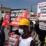 Kayı İnşaat işçileri: Bankalardan önce bizim alacaklarımız ödensin