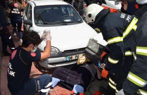 Taburcu olup ambulanstan indikten sonra otomobil çarptı