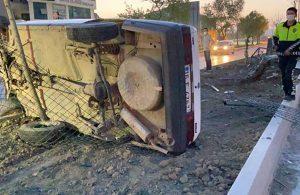 Elektrik direğine çarpan otomobilin sürücüsü alkollü çıktı