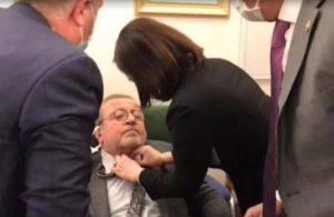 Meclis'te rahatsızlanan HDP'li Kemal Bülbül hastaneye kaldırıldı