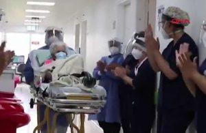 104 yaşındaki kadın koronavirüsü ikinci kez yendi