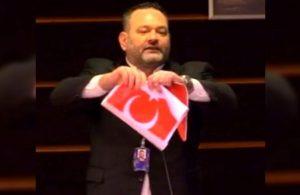 Avrupa Parlamentosu'nda Türk Bayrağı yırtan Yannis Lagos gözaltına alındı