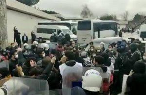 Tuncay Özilhan'ın evinin önünde toplanan Migros işçilerine gözaltı