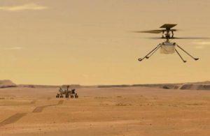 Ingenuity, Mars'ın havadan ilk renkli fotoğrafını çekti