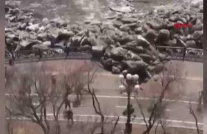Rusya'da akılalmaz doğa olayı! Bir anda etrafa saçıldı