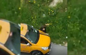 Takip ettiği kadına taksisiyle çarpıp yaraladı