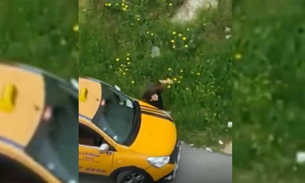 Taciz ettiği kadına taksisiyle çarpıp yaraladı