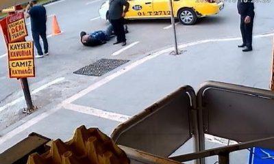 Taksicinin vurulma anı saniye saniye kaydedildi