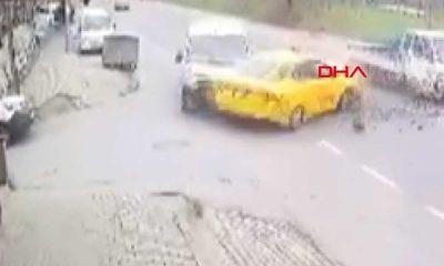 Hatalı sollama kazayla sonuçlandı