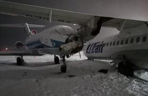 Rusya'da iki uçak kafa kafaya çarpıştı