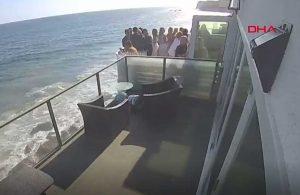 Parti yapılan evin balkonu çöktü: 9 yaralı