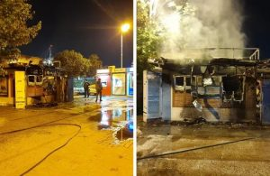 İBB'ye ait Halk Ekmek büfesi yandı