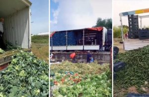 """Çiftçi ürünlerini çöpe döktükten sonra İçişleri Bakanlığından """"Pazar Yerleri"""" konulu genelge"""