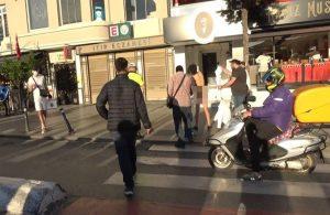 Taksim'de soyunan kadına polisler müdahale etti