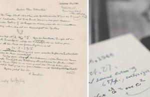 Einstein'in mektubu rekor fiyata satıldı