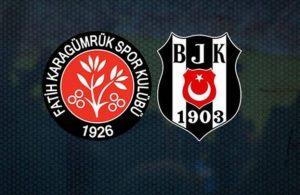 Lider Beşiktaş Karagümrük'ü geçemedi